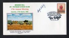 Broken Hill St Patrick's Race Club Brushmen of the Bush Artist Signed Cover 1982