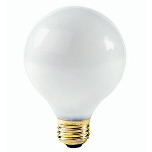 NIB 25 WATT G25 WHITE MEDIUM BASE BULB LAMP INCANDESCENT GLOBE VANITY BATH