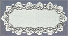 "Oval, white, lace, table runner NEW (60 x 120cm) (23.5""x 47""), elegant gift"