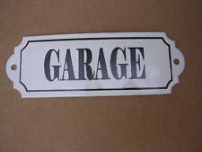 Plaque de porte émaillée GARAGE émail véritable 800°C Fabriquée en France Neuve