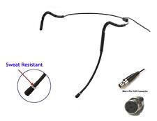 Light Mini Sweat Resistant Black Headset Mic for Shure T1 GLX PGX ULX SLX1 U1 BL