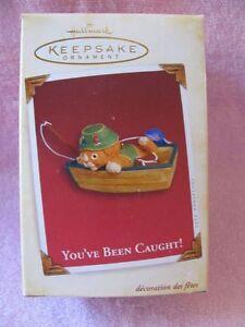 Hallmark Souvenir Noël Ornement Vous Avez Been Pris 2005 Petit Chat