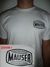 TEE SHIRT blanc pistolet MAUSER Original M L XL XXL 98 K C96 AIRSOFT PAINTBALL