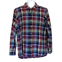 J. MCLAUGHLIN Trim Fit Men's Size XL Cotton Long Sleeve Plaid Fall Shirt
