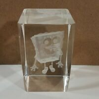 Spongebob Squarepants Laser Etched Crystal Glass Paperweight Home Decor
