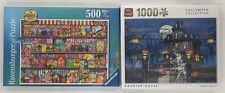 500 & 1000 Pc Jigsaw Puzzles 'The Sweetshop & Haunted House' Ravensburger & King