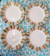 Vintage retro Broadhurst Kathie Winkle Viscount Dinner Plates X 4 60s 70s