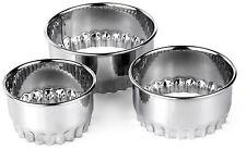 3 pièces plissé emporte-pièces pâtisserie - Idéal pour Tartes Flans œuf Custards