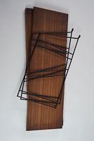 60er Bücherregal Vintage String Regal Nussbaum Wandregal Danish Regalsystem 14