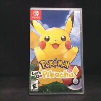 Pokemon: Let's Go Pikachu! (Nintendo Switch, 2018) BRAND NEW/ Region Free
