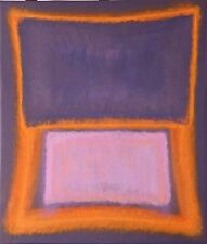 Original A/C Painting After Rothko Color Field Abstract Mid Century 17.25x20.25