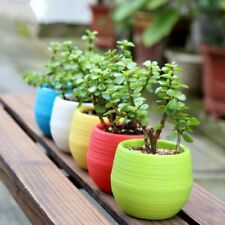 Hot Round Home Garden Office Decor Planter Plastic Plant Flower Pots Window Box