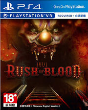 Until Dawn: Rush of Blood VR GAME HK Chinese/English subtitle Version PS4 NEW