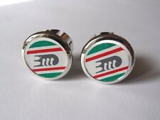 *NOS Vintage 1980s 3ttt Italian flag handlebar bar end plugs - (Silver)*