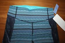 Lululemon Stop At Nothing Crop Size 4 xs Space Dye Twist Naval Blue Peacock NWT