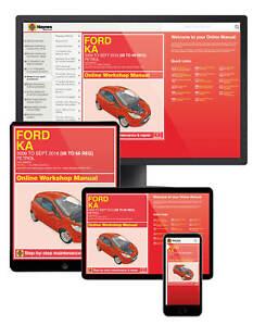 Ford Ka (2009-2016) 58 to 66 Petrol Haynes Online Manual