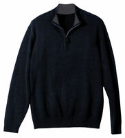 Edwards Garment Men's Casual Quarter Zip Long Sleeve Winter Sweater. 712