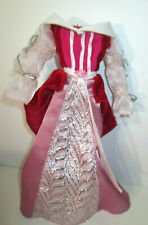 Barbie medieval princess gown pink ornate Renaissance dress 1/6 Sleeping Beauty