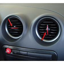 Seat Ibiza Cordoba 6L 4x Lüftungsregler ROT für Luftauslässe Hebel Regler Cupra