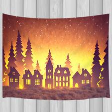 Sunset forest village Tapestry Wall Hanging for Living Room Bedroom Dorm Decor