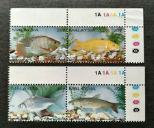 1983 Malaysia Fresh Water Fish 4v Stamps Se-tenant Pairs Fresh Mint NH OG (TR)