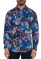 Robert Graham Mayar L/S Printed Sport Shirt, Big Fit, Multicolored