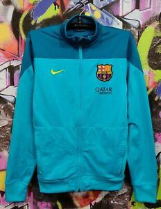 Barcelona Spanish Football Full Zip Jacket Longsleeve Shirt Jersey Top Mens M