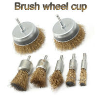 10pc 6mm Rotary Steel Wire Brush Crimp Cup wheel Angle Grinder Rust Removal