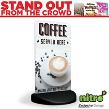 More details for great coffee served here eco flex 2 pavement sign ***printed & delivered***