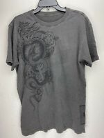 Affliction Short Sleeve T-Shirt Mens Gray Size M
