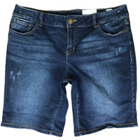 Women's Maurices Shorts Blue Distressed Summer Shorts Size 11/12 (W36 Measured)