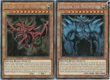 Yu-Gi-Oh! Slifer il Drago del Cielo + Obelisk il Tormentatore ☻ INGLESE ☻ CT13