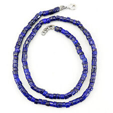RARE 158.00 CTS NATURAL UNTREATED RICH BLUE LAPIS LAZULI ROUND BEADS NECKLACE