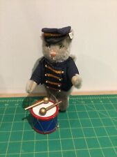 STEIFF CIRCUS CAT BANDSMAN with DRUM  Limited Edition, 1989  19 cms tall