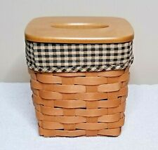 2009 Longaberger Tall Tissue basket with lid and liner