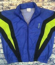 Adidas Originals 1980s Vintage Blue Yellow Windbreaker Small Xs Short Baggy Read