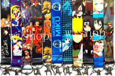 new 10 PCS Mixed Japanese Anime Mobile Phone LANYARD Neck Strap Charms