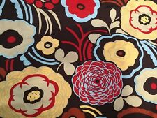 Alexander Henry Boutique Fabric Mocca Collection Chocolate Floral Fabric