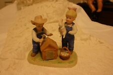 1985 Denim Days Bunny's Hutch #1514 Figurine
