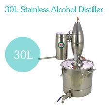 New 30L STAINLESS ALCOHOL DISTILLER HOME BREW KIT MOONSHINE WINE MAKING BOILER