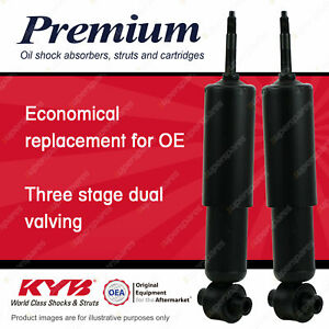 2 x Front KYB PREMIUM Shock Absorbers for FIAT 124 124A 132C 125BC 132AC I4