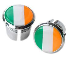 Irish Ireland Flag Bicycle Handlebar Chrome Plastic Bar End Plugs, Caps L'Eroica