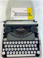 Vintage 1970s Hermes Rocket Portable Manual Typewriter w/Case Clean Works *READ*