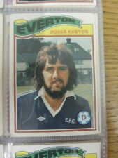 1978/1979 Everton - Card No.247) Roger Kenyon  - Topps Chewing Gum Trade Card. T