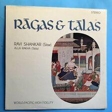 Ravi Shankar, Alla Rakha –Ragas & Talas-1964 World Pacific Stereo  VG++/VG++