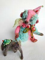 """Teddy Big Bear 9"""" Lulu OOAK artist Teddy by Voitenko S"""