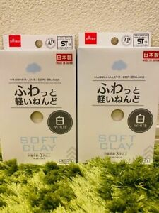 Daiso Soft Cray WHITE 2 packs set butter slime arcilla suave JAPAN F/S