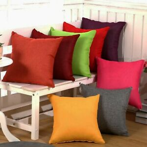 """Set Of 2 Throw Pillow Case Cover Cushion Case 18"""" x 18""""  Solid colors"""
