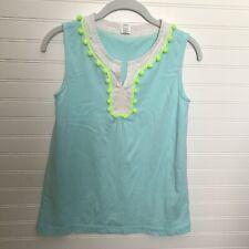 Girls Crewcuts Mint green tunic with Pompom Design Tunic shirt Sleeveless