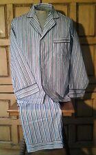 Men's John Weitz Long Sleeve Pajama Set Burgundy,Green, Blue White Stripe Medium